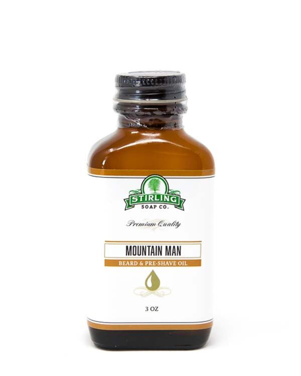 STIRLING SOAP CO MOUNTAIN MAN BEARD & PRE-SHAVE OIL 3 OZ