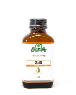 STIRLING SOAP CO ORANGE BEARD & PRE-SHAVE OIL 3 OZ