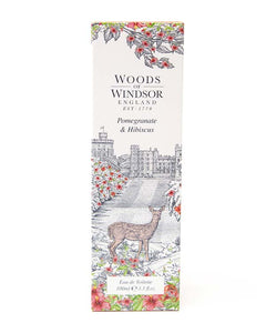 WOODS OF WINDSOR POMEGRANATE & HIBISCUS EAU DE TOILETTE 3.3 FL OZ