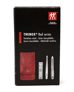 ZWILLING RED SERIES 3 PIECE MANICURE SET