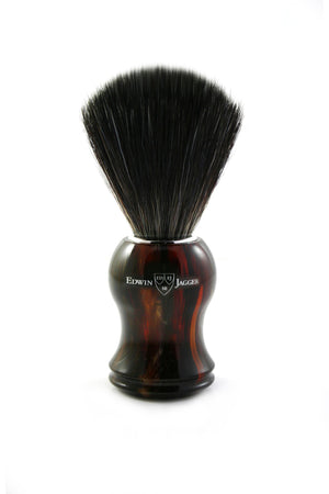 EDWIN JAGGER BLACK SYNTHETIC BRUSH WITH TORTOISE HANDLE 21P33