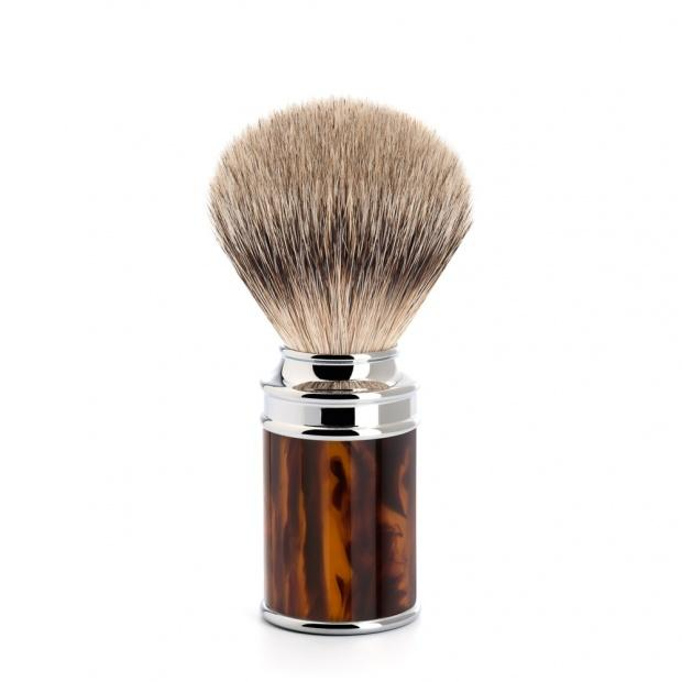 MUHLE SILVERTIP BADGER TORTOISE SHELL SHAVING BRUSH 091 M 108
