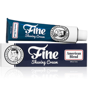 FINE AMERICAN BLEND SHAVING CREAM 3.3 OZ