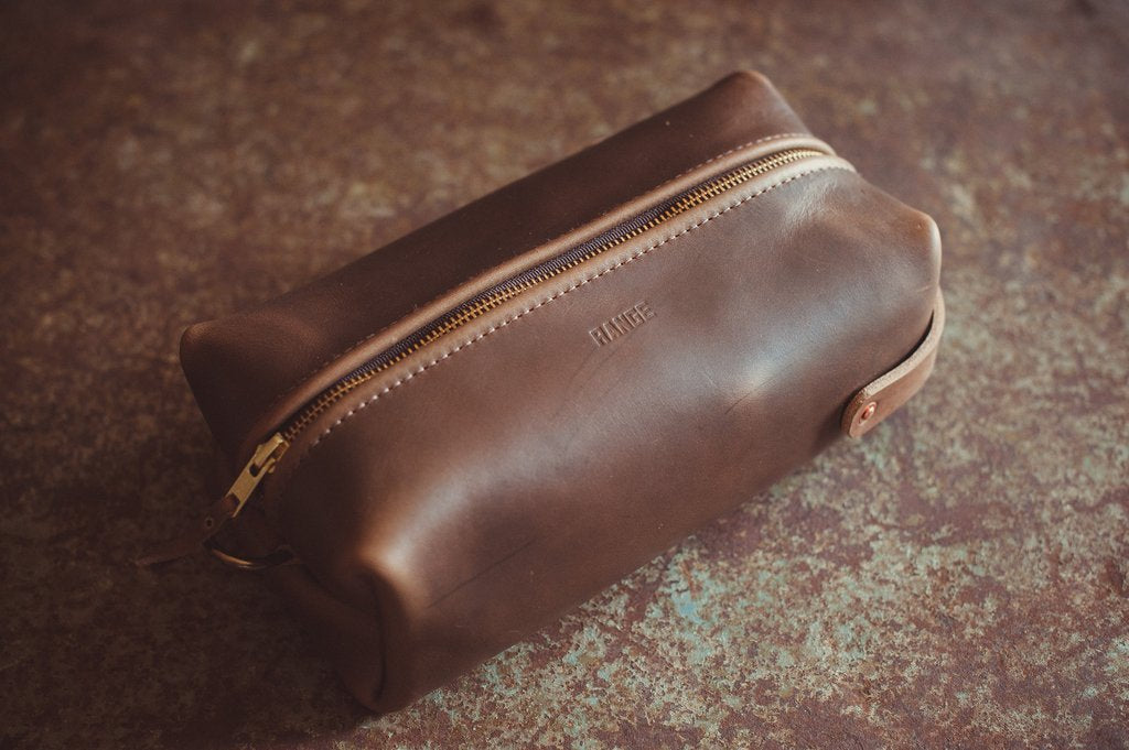 RANGE LEATHER TRAVELLR XL CASE, BROWN