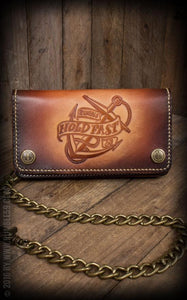 RUMBLE 59 HANDMADE LEATHER WALLET ANCHOR DESIGN