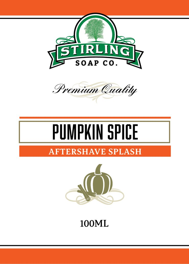 STIRLING SOAP CO PUMPKIN SPICE AFTERSHAVE SPLASH 100ml