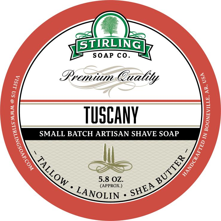 STIRLING SOAP CO TUSCANY SHAVE SOAP 5.8 OZ