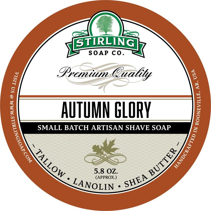 STIRLING SOAP CO AUTUMN GLORY SHAVE SOAP 5.8 OZ