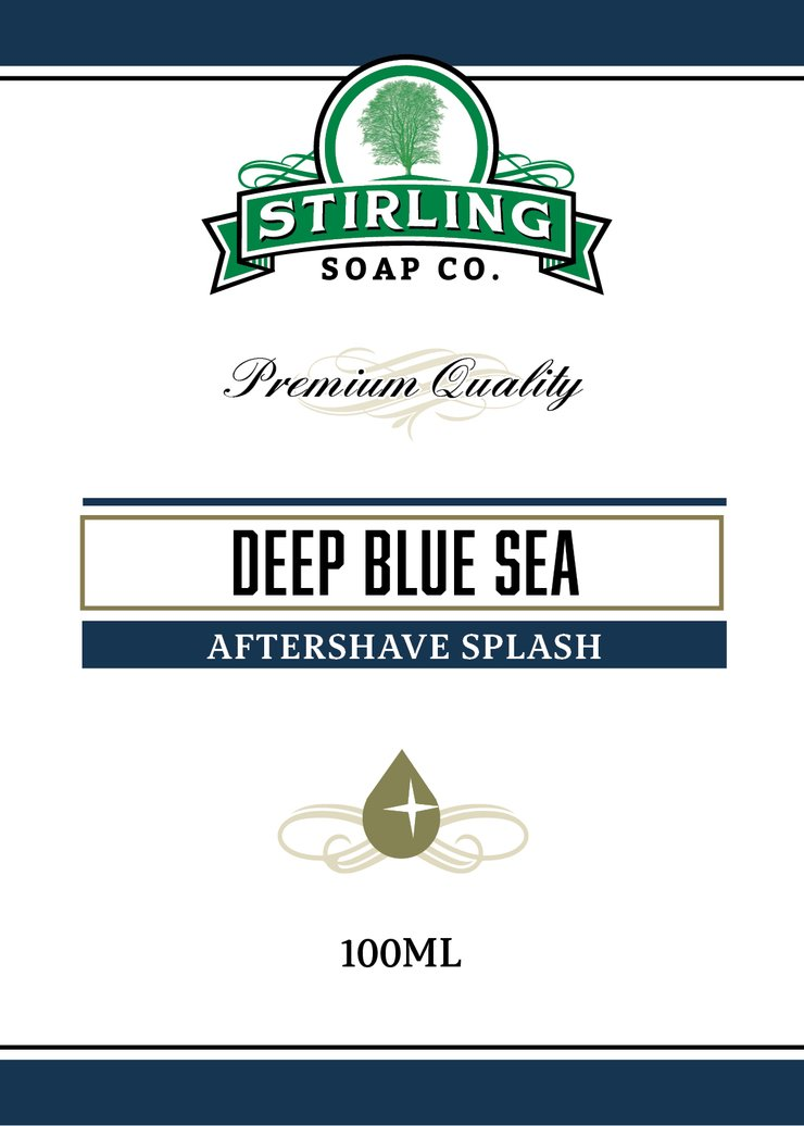 STIRLING SOAP CO DEEP BLUE SEA AFTERSHAVE SPLASH 100ml