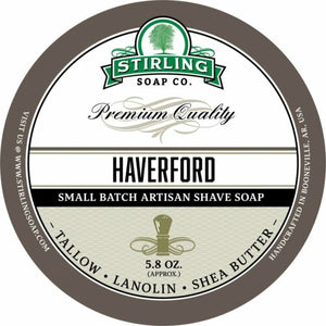 STIRLING SOAP CO HAVERFORD SHAVE SOAP 5.8 OZ