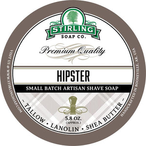 STIRLING SOAP CO HIPSTER SHAVE SOAP 5.8 OZ