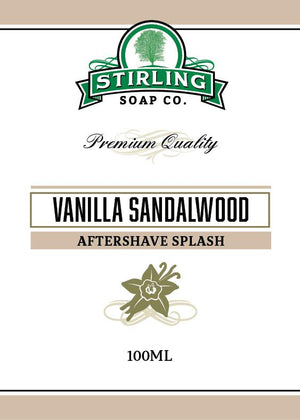 STIRLING SOAP CO VANILLA SANDALWOOD AFTERSHAVE SPLASH 100ml