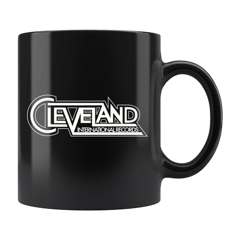 Cleveland International Black Mug
