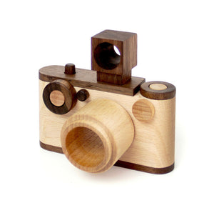 Vintage Wooden Toy Camera With Kaleidoscope Lens 35MM