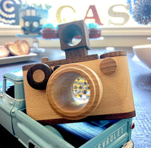 Load image into Gallery viewer, Vintage Wooden Toy Camera With Kaleidoscope Lens 35MM