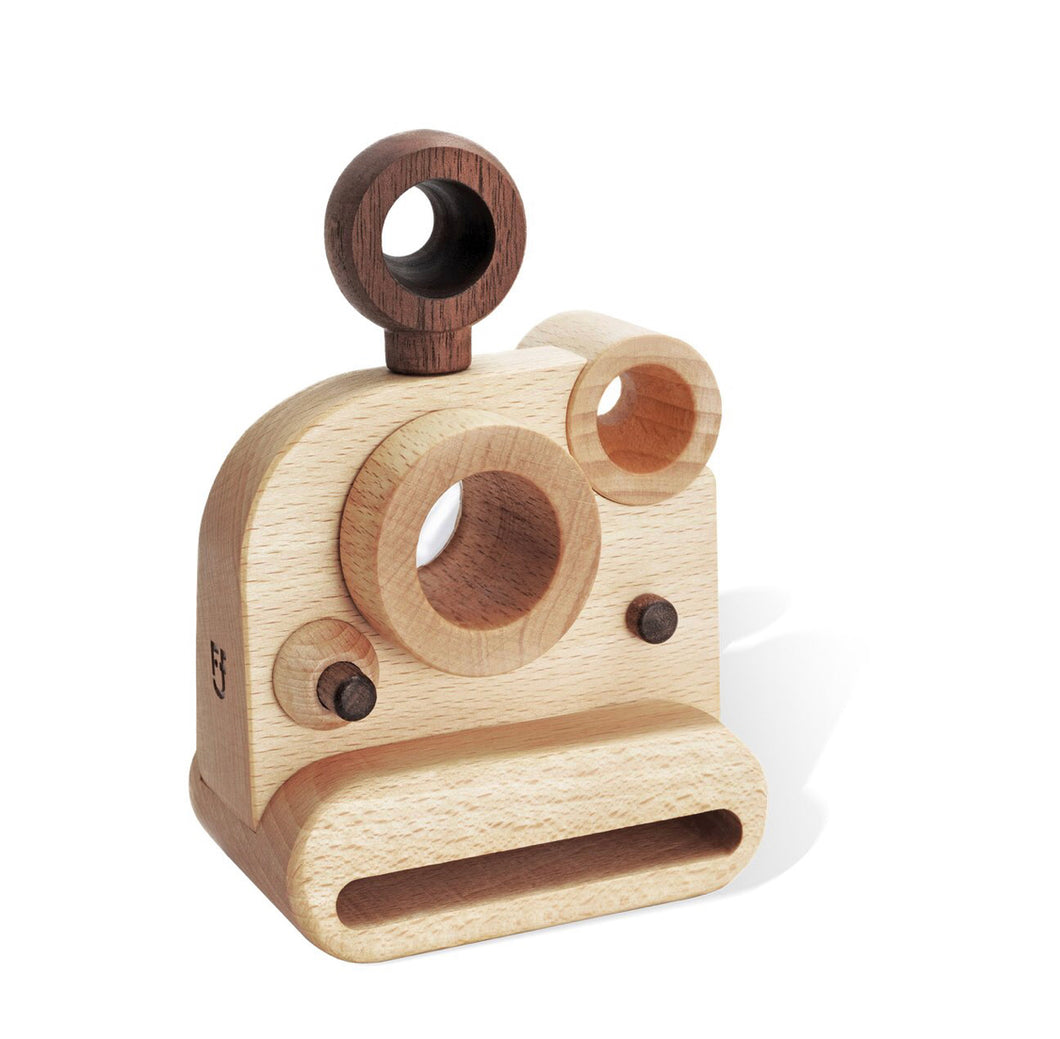 Polaroid Style Wooden Toy Camera with Kaleidoscope Lens
