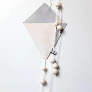 Kite Wall Decor - Grey & White