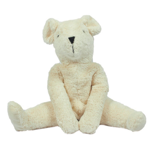 Floppy Animals - Bear White Large