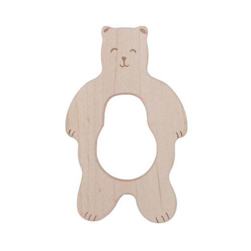 Wooden Smily Bear Teether