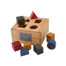 Load image into Gallery viewer, Wooden Rainbow Shape Sorter Box