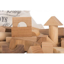 Load image into Gallery viewer, Wooden Natural Blocks In Sack - 100 pcs