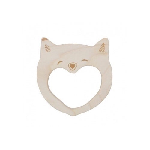 Wooden Smily Cat Teether