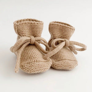 Merino Wool Booties - Sand