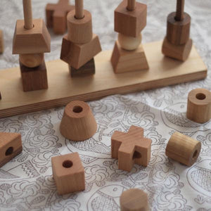 Wooden Natural Stacking Toy