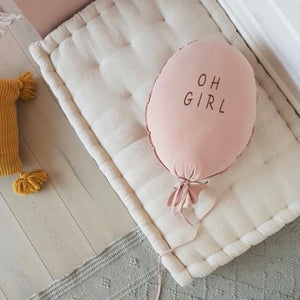 Balloon Pillow - Dusty Pink 'Oh Girl'