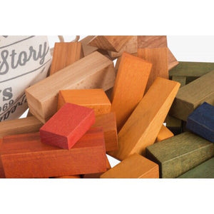 Wooden Rainbow Blocks In Sack XL - 50 pcs