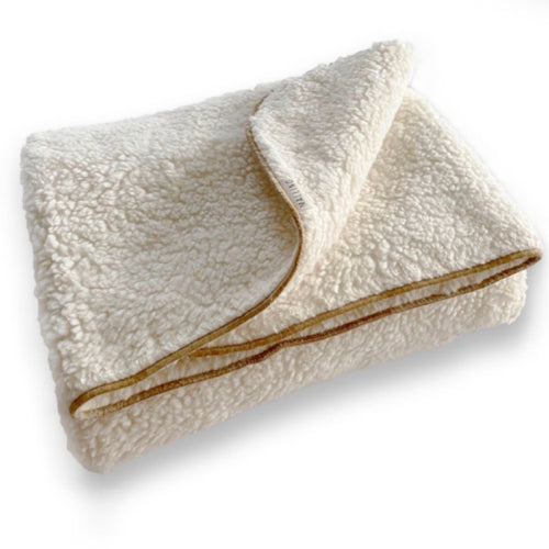 Cotton Sherpa Blanket - Natural