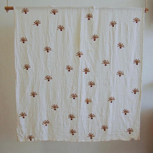 Organic Cotton & Bamboo Muslin Blanket - Shadows