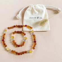 Load image into Gallery viewer, Baltic Amber Children's Bracelet / Anklet - Willow