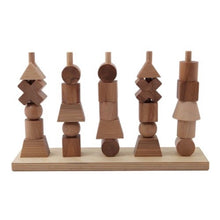 Load image into Gallery viewer, wooden story natural stacking toy