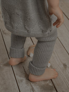Merino Wool Leggings - Grey