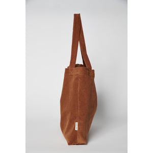 Rib Hand Bag - Brown-ie