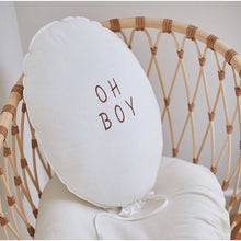 Load image into Gallery viewer, Balloon Pillow - Ecru 'Oh Boy'