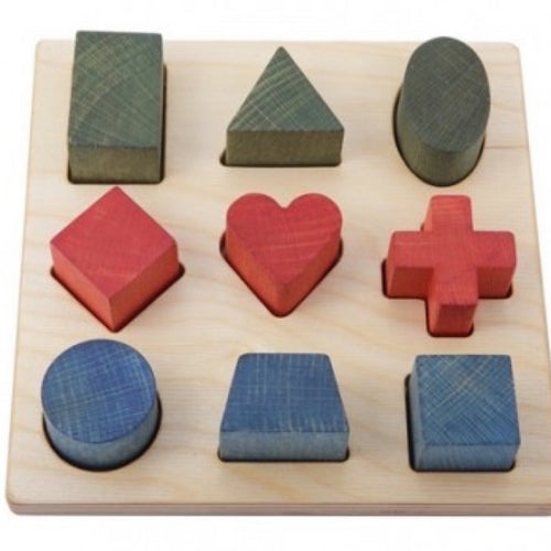 Wooden Rainbow Shape Puzzle Board