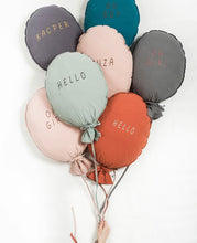 Load image into Gallery viewer, Balloon Pillow - Light Grey 'Hello'
