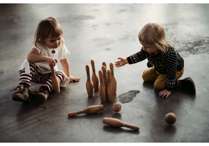 Wooden Bowling Set - Natural