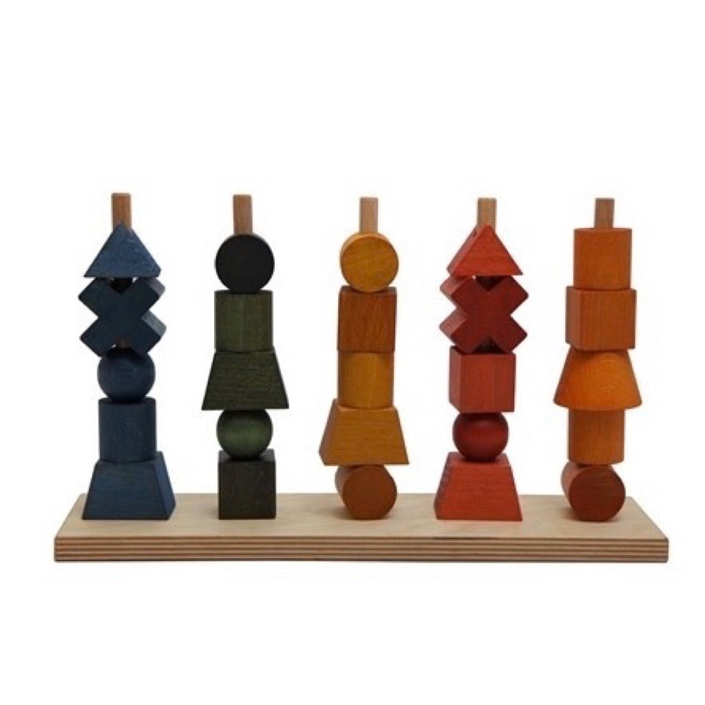wooden rainbow stacking toy