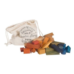 wooden story rainbow blocks