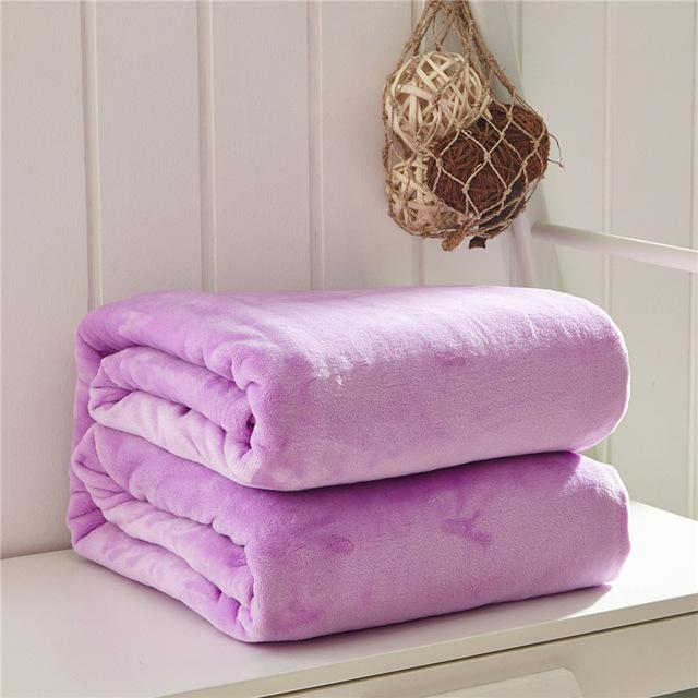 Bedding - Thick Plush Solid Color Blankets - Bevsu