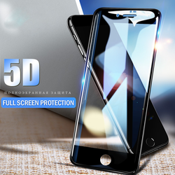 5D Full Cover Tempered Glass For iPhone 7 6 6s 8 Plus X - bevsu