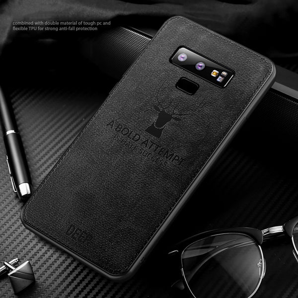 Luxury Fabric Leather Soft Phone Case for Samsung Galaxy S7 S8 S9 S10