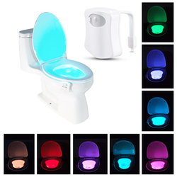 8-Color LED Motion Sensing Automatic Toilet Night Light(Free Shipping) - bevsu