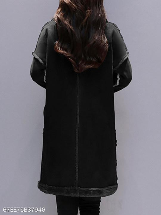 Lapel Plain Coat