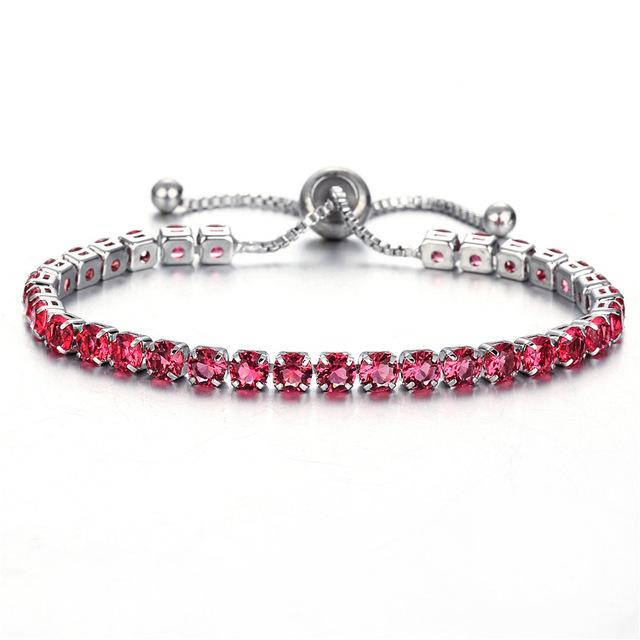 Fashion Cubic Zirconia Adjustable Charm Bracelet