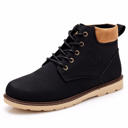 Boots - High Top Warm Men's Ankle Boots - Bevsu