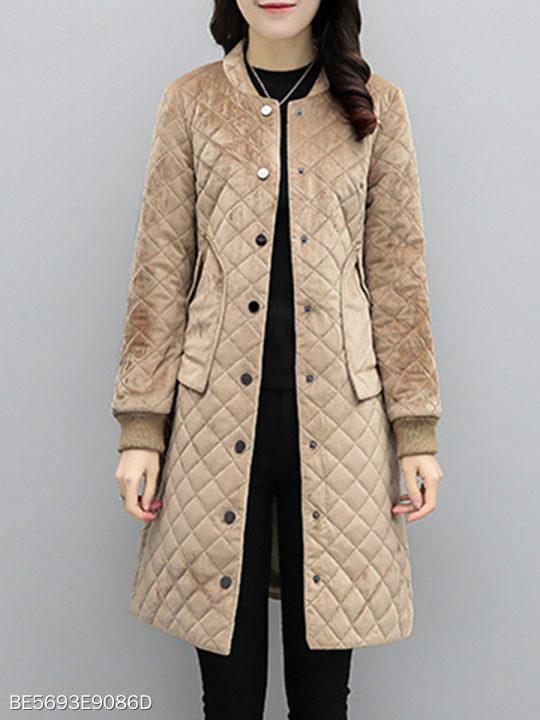 Band Collar Plain Coat